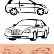 Sketch of cars - Stock Vector