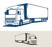 Truck with semitrailer — Stock Vector