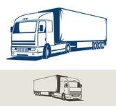 Truck with semitrailer — Stock Vector