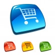 Royalty-Free Stock Vector Image: Shopping cart icon on web button