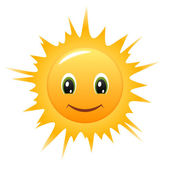 Smiling cartoon Sun — Stock Vector