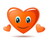 Corazón sonrientes de dibujos animados — Vector de stock
