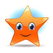 Smiling cartoon star — Stock Vector