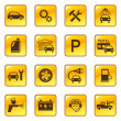 Car service and repair icons — Stock Vector