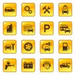 Car service and repair icons - Stock Vector