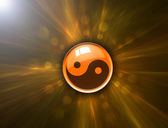 Abstract background and Yin Yang symbol with clipping path — Stock Photo