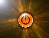 Resumen antecedentes y botón de encendido con trazado de recorte — Foto de Stock