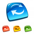 Refresh icon on web button — 图库矢量图片