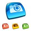 Royalty-Free Stock Vector Image: Camera icon on web button