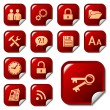 Web icons on sticker buttons 3 — Stock Vector