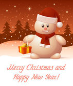 Merry Christmas and Happy New Year. Greeting card — Stock Vector