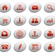 Web icons on ellipse buttons 1 — Stock Vector