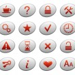Stock Vector: Web icons on ellipse buttons 2