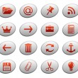 Stock Vector: Web icons on ellipse buttons 3