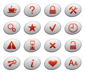 Web icons on ellipse buttons 2 — Stock Vector