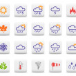 Weather and seasons icon set - Stok Vektör
