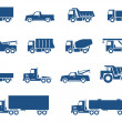 Trucks icons set - Stock Vector
