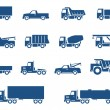 Trucks icons set — Stock vektor