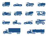 Trucks icons set — Stock Vector