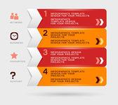 Infographic design. Eps10 vector — Stock Vector
