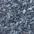 Gray blue rubble stones texture — Stock Photo