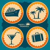 Travel poster design — Stock Vector