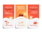 Travel banner, poster, sticker, flyer, ticket design — Stock Vector