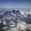 Beautiful view of Himalayas from the plane — Foto Stock