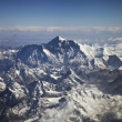 Beautiful view of Himalayas from the plane - Stock Photo