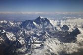 Beautiful view of Himalayas from the plane — Stock Photo
