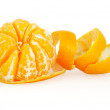 Tangerine isolated on white background with clipping path — Stock Photo