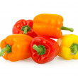 Peppers isolated on white background with clipping path — Stock Photo