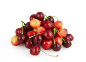 Cherries isolated on white background with clipping path — Stock Photo