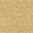 Antique paper background with floral pattern. XIX c. — Stock Photo