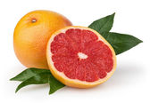 Grapefruit isolated on white background with clipping path — Stock Photo