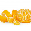 Tangerine isolated on white background — Stock Photo