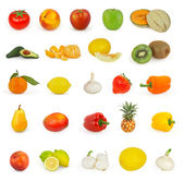 Set of fruit isolated on white background — Stock Photo