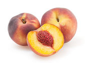 Peaches isolated on white background with clipping path — Stock Photo