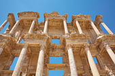 Facade of the Library of Celsus. Turkey — Stock Photo