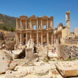 Stock Photo: Facade of the library of Celsus