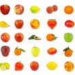 Royalty-Free Stock Photo: Set of fruit isolated on white background