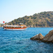 Stock Photo: Aegeselandscape with ship. Turkey. Marmaris.