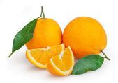Oranges isolated on white background with clipping path — Stock Photo