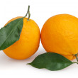 Two oranges isolated on white background with clipping path — Stock Photo #35200889