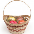 Easter basket isolated on white background — Stock Photo #40009433