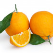 Oranges isolated on white background with clipping path — Stock Photo #40968449