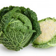 Savoy cabbage isolated on white background with clipping path — Stock Photo #40968453