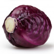 Red cabbage isolated on white background with clipping path — Stock Photo #41442901