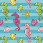 Seahorses pattern — Stock Photo #11949085