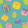 Presents pattern — Foto Stock #12527230